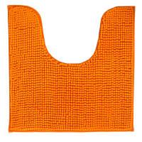 Коврик для туалета Merci, 45х45, полиэстер, цвет оранжевый