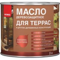 Масло для террас цвета орех Neomid 2 л