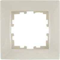 Рамка для розеток и выключателей Lexman Виктория сферическая, 1 пост, цвет бежевый