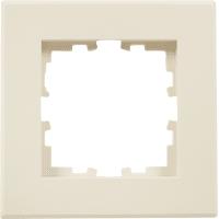 Рамка для розеток и выключателей Lexman Виктория плоская, 1 пост, цвет бежевый