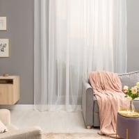 Тюль на ленте 300х280 см вуаль цвет белый