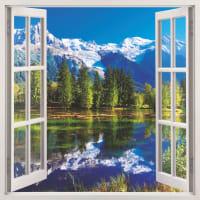 Фотообои бумажные «Окно» 139х139 cм