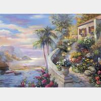 Фотообои флизелиновые «Дом у моря» 270х370 cм