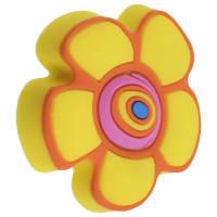 """Ручка-кнопка """"Цветок"""" силикон цвет мультиколор"""
