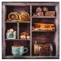 Картина на стекле 30х30 см «Шоколад и пряности»