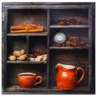 Картина на стекле 30х30 см «Пряности коллаж»