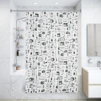 Штора для ванной комнаты Sensea «Barber» 180х200 см