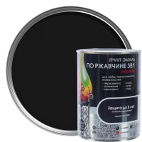 Грунт эмаль по ржавчине 3 в 1 гладкая Dali Special цвет черный 0.8 кг
