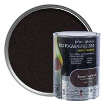 Грунт эмаль по ржавчине 3 в 1 молотковая Dali Special цвет коричневый 0.8 кг