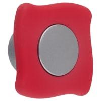 Ручка-кнопка B 051 000 цвет сатин/коралл