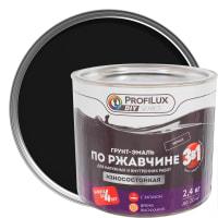 Эмаль по ржавчине 3в1 цвет чёрный 2.4 кг