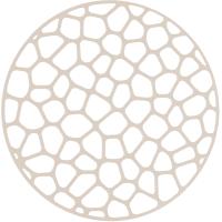Решётка в мойку MIO, d30 см, цвет слоновая кость