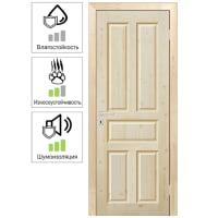 Дверь межкомнатная глухая Кантри 80x200 см, хвоя, цвет натуральный