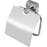 Держатель для туалетной бумаги Sensea «Kvadro» с крышкой цвет хром