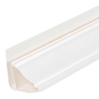 Плинтус ПВХ потолочный для панелей 5 мм Белый 3000 мм