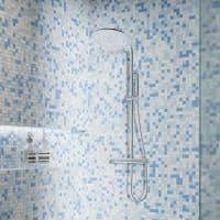 Мозаика Artens Shaker 30х30 см, стекло, цвет белый/голубой