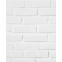 Панель ПВХ Белый кирпич 8 мм 2700х375 мм 1.012 м²