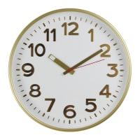 """Часы настенные """"Золото"""" цвет белый диаметр 30 см"""