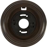 Рамка для розеток и выключателей Electraline 1 пост, цвет коричневый