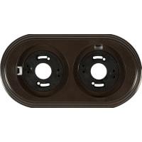 Рамка для розеток и выключателей Electraline 2 поста, цвет коричневый