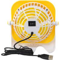 Вентилятор настольный мини USB Equation 3W 10см, желтый