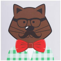 Картина на холсте «Hipster cat коричневый» 30х30 см
