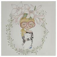 Картина на холсте «Девочка в цветах» 30х30 см