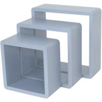 Полка кубическая, 20х10 см/24х10 см/28х10 см, цвет голубой, 3 шт.