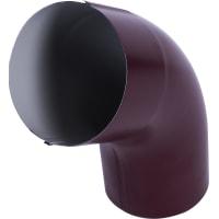Колено трубы 55° D90 мм цвет вишня