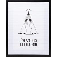 Картина на холсте в раме «Dream big» 40х50 см