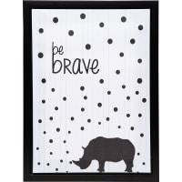 Картина на холсте в раме «Be brave» 30х40 см