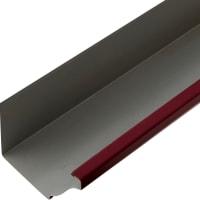 Желоб прямоугольный 3 м 120х86 мм цвет красный