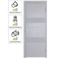 Дверь межкомнатная глухая шпон Модерн 90x200 см цвет белый ясень