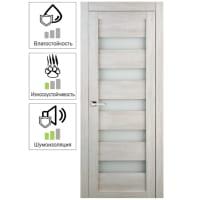 Дверь межкомнатная остеклённая Лайн 70x200 см цвет дуб бриг