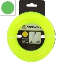 Леска для триммера Sterwins, 2.5 мм х 30 м, круглая, цвет жёлтый