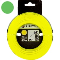 Леска для триммера Sterwins, 2 мм х 45 м, круглая, цвет жёлтый