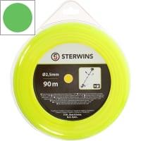 Леска для триммера Sterwins, 2.5 мм х 90 м, круглая, цвет жёлтый
