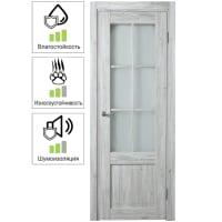 Дверь межкомнатная остеклённая Рустик 80x200 см цвет северная сосна
