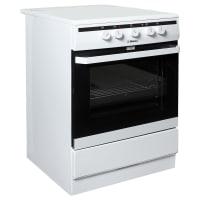 Плита электрическая HANSA FCCW63000 60 см, стеклокерамика, цвет белый