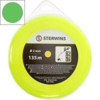 Леска для триммера Sterwins 2 мм х 135 м, круглая, цвет жёлтый