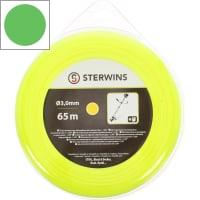 Леска для триммера Sterwins 3 мм х 65 м, круглая, цвет жёлтый