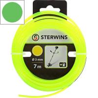 Леска для триммера Sterwins 3 мм х 7 м, круглая, цвет жёлтый