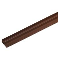 F-профиль для террасной доски ITP 3000х63.5х30 мм ДПК цвет вишня