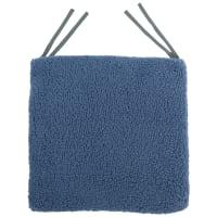 Галета для стула «Шерпа», 40x40 см, цвет серо-синий