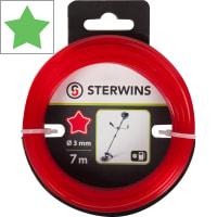 Леска для триммера Sterwins 3 мм х 7 м, звезда, цвет красный
