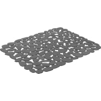 Коврик для мойки Delinia, 40х30.5 см, силикон, сталь, цвет серый