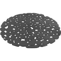 Коврик для мойки Delinia, d29 см, силикон, цвет серый