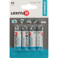 Батарейка алкалиновая Lexman AA, 4 шт.