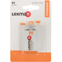 Батарейка алкалиновая Lexman 6LR61, 1 шт.