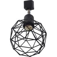 Трековый светильник «Spiro» со сменной лампой E14 40 Вт, 2 м², цвет черный